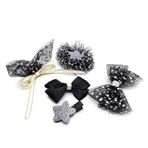 Hair Accessories for girls,Crown style Hair Clasp, Halloween style 5-piece box -