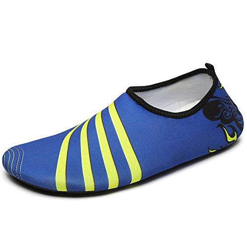 Lucdespo playa de zapatillas Rayas par de azules nuevo rw7AXr