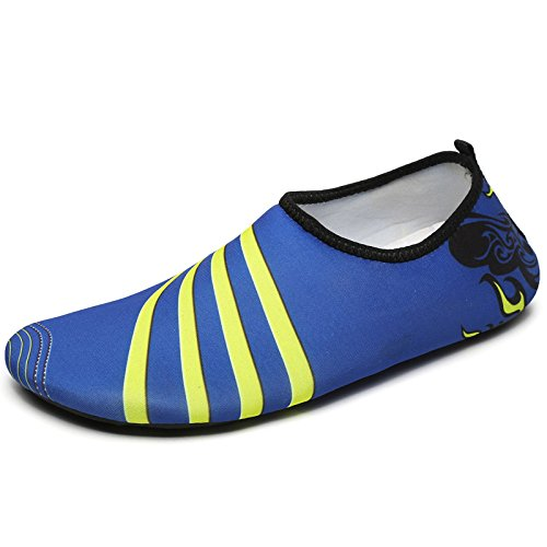 nuevo zapatillas Rayas Lucdespo de azules de par playa AyMacFZfa