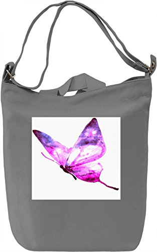 Butterfly Print Borsa Giornaliera Canvas Canvas Day Bag  100% Premium Cotton Canvas  DTG Printing 