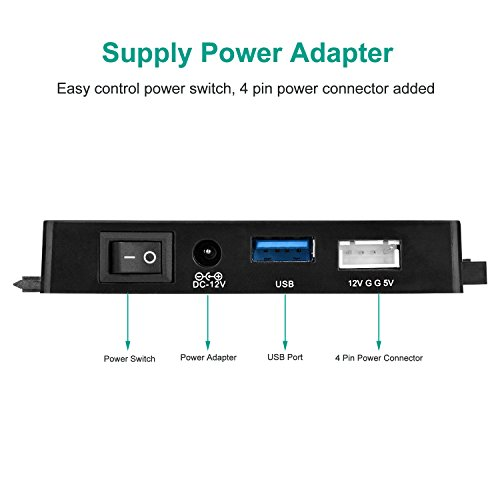 AGPtEK USB 3.0 to IDE/SATA Converter Adapter with Power Switch for 2.5''/3.5''SATA/IDE/SSD Hard Drive Disks, Support4TB, Include 12V 2APower Adapter & USB 3.0 Cable by AGPTEK (Image #3)'