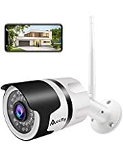 New Version Outdoor Security Camera, 1080P Camera Surveillance with IR Night Vision Waterproof Wireless Security Camera, Surveillance Camera with Two-Way Audio, Motion Detection, Smartphone Compatible