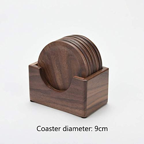 Black Walnut Solid Wood Tea Coaster Tea Ceremony Kettle Cup Holder Tea Cup Holder Insulation Pad Cup Holder Creative Combination Kung Fu Tea Set (Color : E) ()