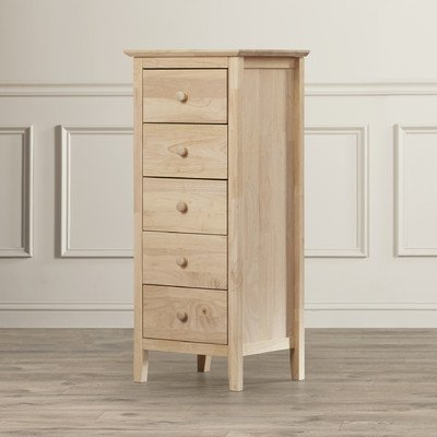 Coppedge 5 Drawer Lingerie Bedroom Chest Dresser-Natural