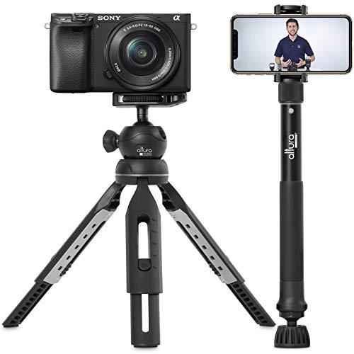"6 in 1 Monopod Tripod Kit by Altura Photo – 55"" Telescoping Vlogging Tripod for Camera, Smartphone & GoPro Tripod…"