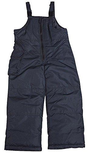 London Fog - Little Girls Bib Snowpant, Black 38510-4-FBA