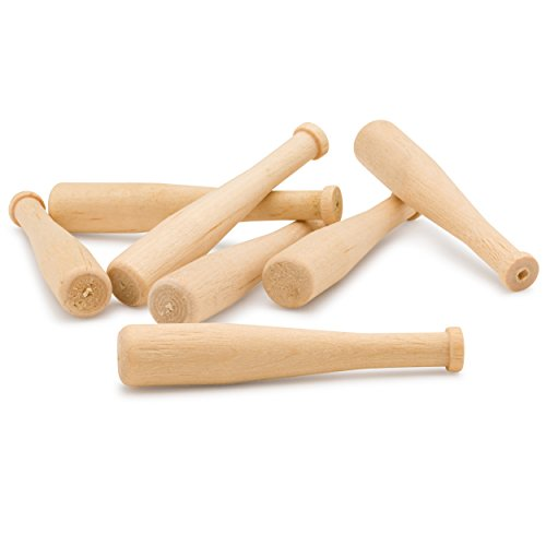 Woodpeckers Wooden Unfinished Mini Bats