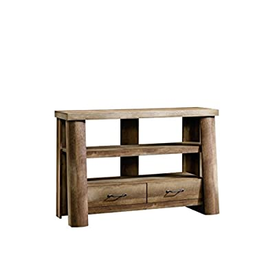 Sauder Boone Mountain Anywhere Console Table/TV Stand - Dimensions: 49.25L x 17W x 32.375H in. Solid wood construction Craftsman oak finish - tv-stands, living-room-furniture, living-room - 41xafUB%2BysL. SS400  -