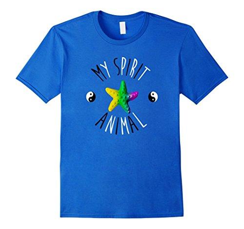 Men's Starfish Is My Spirit Animal Art Costume Decorations T Shirt Large Royal Blue (Starfish Adult Costume)