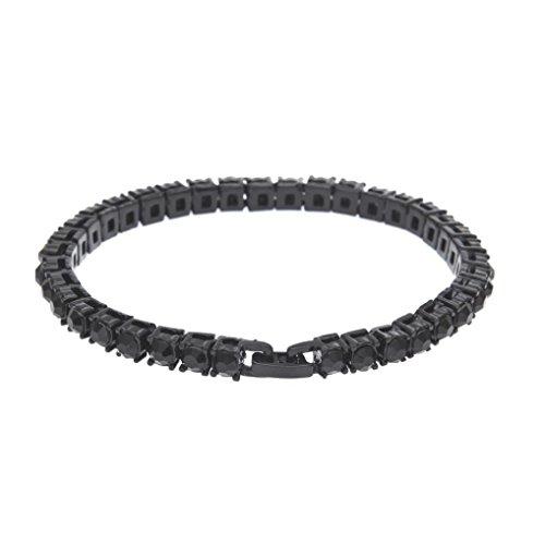(ARINLA Womens Mens Bling Crystal Rhinestone Chain Bracelet Gift Jewelry )