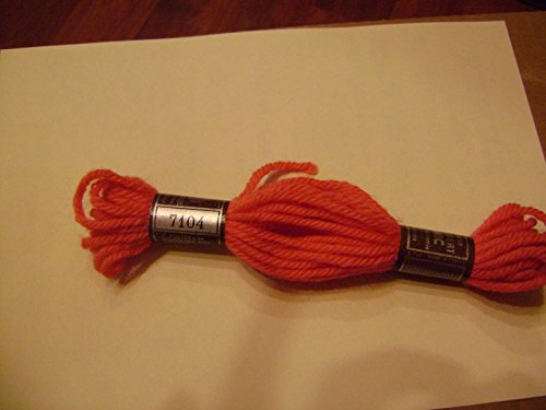 Orange 7104 DMC Laine 100% Virgin Wool Tapestry Yarn Made in France