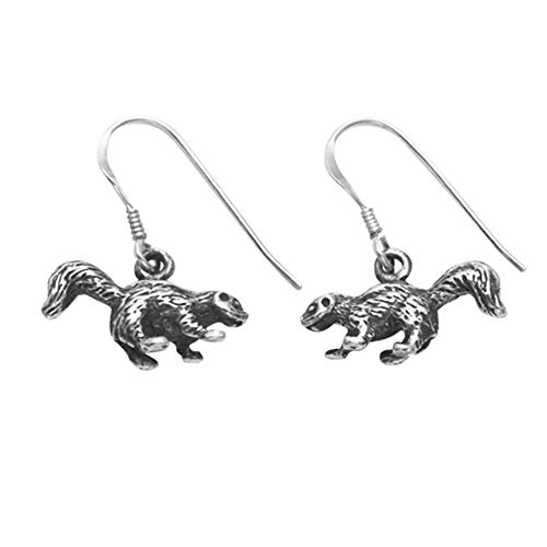 Sterling Silver Skunk Wire Earrings ()