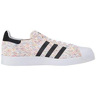 adidas Originals Men's Superstar 80s Prime Knit Running Shoe, White/White/Core Black, 10.5