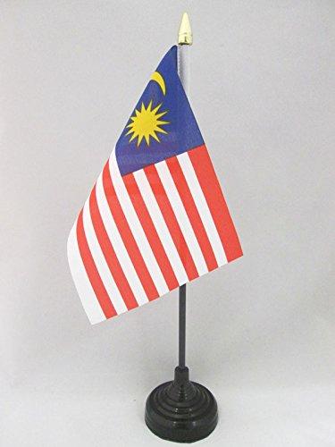 Petit Drapeaux DE Bureau malaisien 10 x 15 cm Pointe dor/ée AZ FLAG Drapeau de Table Malaisie 15x10cm