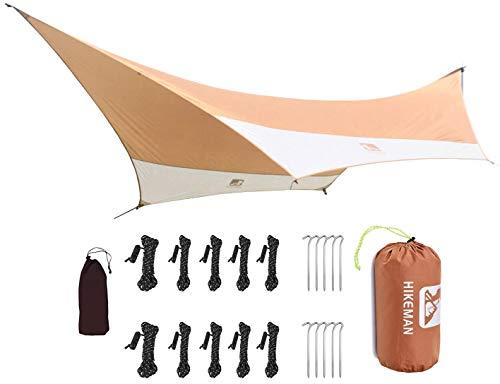 HIKEMAN Camping Tent Tarp Shelter 4.5m x 5.5m Lichtgewicht Waterdicht Winddicht PU3000mm Anti UV met 6 Aluminium Stakes…
