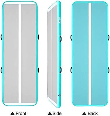 3M Esterilla Hinchable Air Floor Track para Gimnasia con Bomba de Aire Eléctrica. Pista de Aire Inflable Tumbling Alfombrillas-Colchonetas Volteretas ...