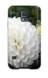 New Style Tpu S5 Protective Case Cover/ Galaxy Case - White Flowers