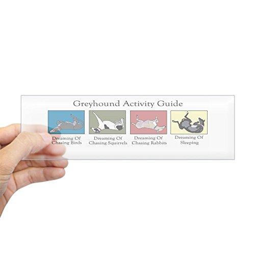 CafePress - Greyhound Activity Guide Bumper Sticker - 10