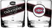 NHL Montreal Canadiens Black Label Rocks Glass, 2-Pack