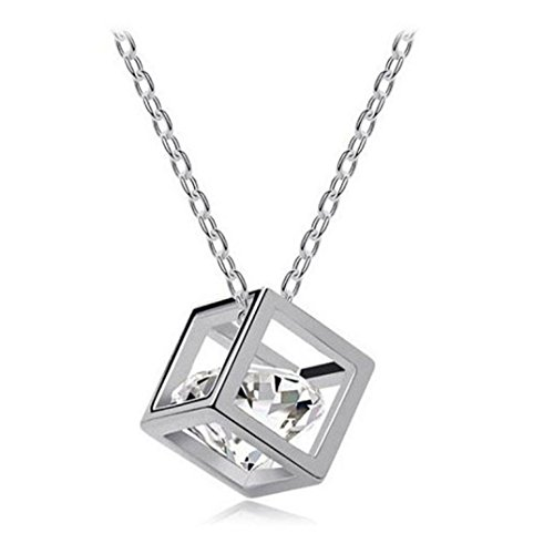 Womens Necklace, Gillberry Women Chain Crystal Rhinestone Square Pendant Alloy Necklace - Owned Designer Pre Sunglasses