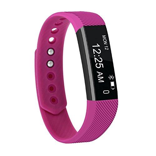 Fitness Tracker,FIT-FIRE Super-thin Activity Tracker Wearable Smart Bracelet (Purple)
