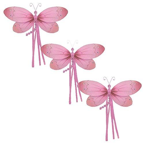 Riley Dragonfly Decoration -Pink-medium / 11