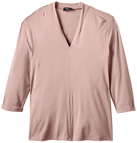 Via Appia Due T-shirt V-aussschnitt 3/4 Arm - Camiseta Mujer Rosa (ROSA 680)