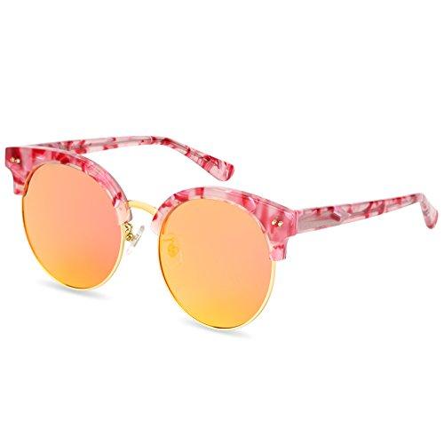 Sol impulsión cumpleaños Red gafas orange negro luz Para Llztyj decoración viento gafas marco Gafas gafas Negro F Sol Sol regalos Larga Mujer Cara De pqPTXY