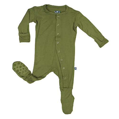 KicKee Pants Baby Boys Footie Pajama- Moss, 3-6 Months