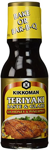 Kikkoman Teriyaki Baste & Glaze With Honey & Pineapple, 12.8-Ounce Bottle (Pack of 3)