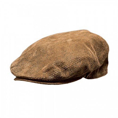 Outback Trading Leather Ascot Cap - Brown (LG)