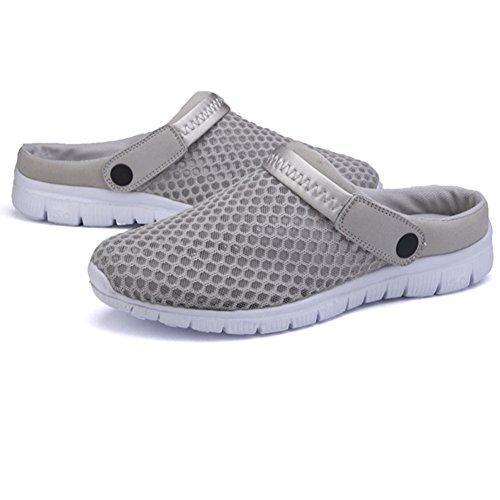 Zapatillas Las Gris Fuera Saguaro® Acoplamiento Playa Del Respirable Unisex De Ahueca Red Hacia Sandalias La 4S01wpx