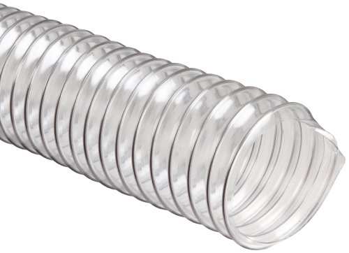 Flexadux R-2 PVC Duct Hose, Clear, 8'' ID, 0.020'' Wall, 25' Length by Flexaust (Image #1)