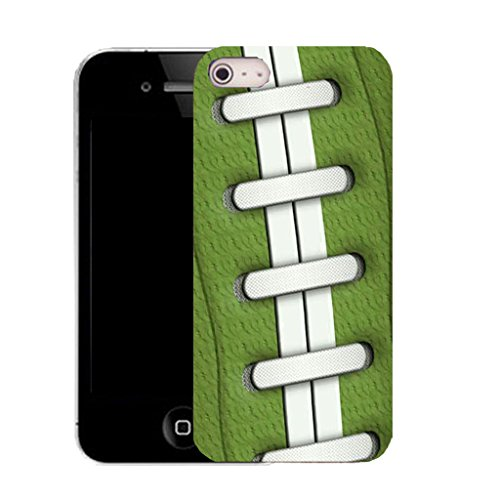 Mobile Case Mate IPhone 5S clip on Silicone Coque couverture case cover Pare-chocs + STYLET - green rugby pattern (SILICON)