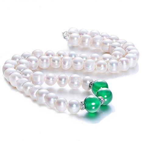 Cultured Pearl Jade Necklace - 7