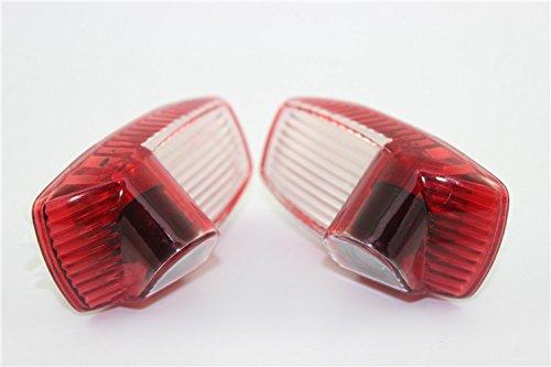 Para Porsche Cayenne/Panamera, coche, Rover taladrar intercambiables & fácil instalación HD Vehículo luz LED para puerta de coche con proyector de logo ...