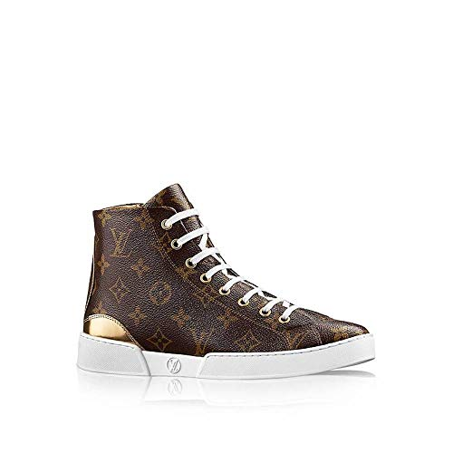 LV Louis Vuitton Patent Monogram Calfskin Stellar Sneaker Boot 36 / US 6 Gold