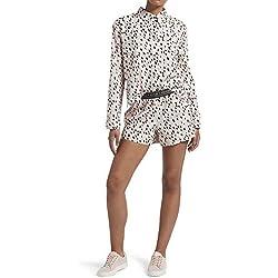 Kendall + Kylie - Conjunto de Calzones con Muescas para Mujer, Angel Wing - Dalmatian, M