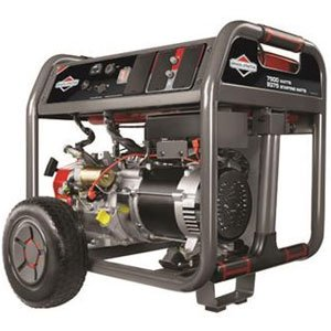 Briggs & Stratton 30552 Elite Series 7500-Watt Gas Powered Portable Generator with 2100 Series OHV 420cc Engine and Never Go Flat Wheels - Discontinued by Manufacturer -  Briggs and Stratton Power Products