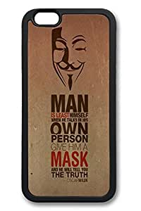 6 Plus Case, iPhone 6 Plus Case Oscar Wilde Quote Anonymus Mask Ideas TPU Silicone Gel Back Cover Skin Soft Bumper Case Cover for Apple iPhone 6 Plus by mcsharksby Maris's Diary