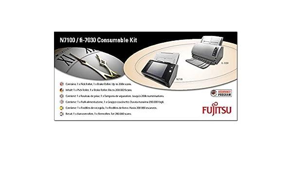Kit de consumibles, Esc/áner, Fujitsu, N7100, fi-7030, CON-3706-200K, Multicolor Piezas de repuesto de equipos de impresi/ón Fujitsu CON-3706-001A pieza de repuesto de equipo de impresi/ón Kit de consumibles Esc/áner