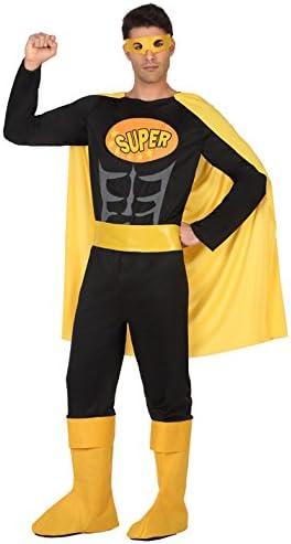 Atosa-39381 Disfraz Hombre Super héroe Comic, Color Negro, M-L ...
