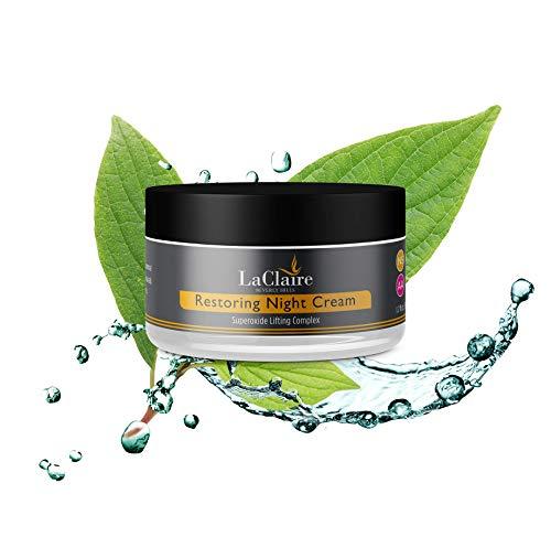 LaClaire Restoring Night Cream with Ferulic Acid & High-Potency Vitamin E - Best Overnight Anti-Aging Cream