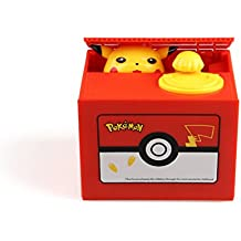 YOURNELO Cartoon Toy Bank Automatic Stealing Music Money Box Coins Piggy Bank for Boys Girls (Pikachu)
