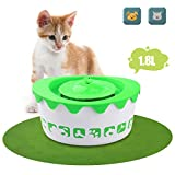 LOGROTATE Pet Fountain Cat Water Dispenser - Automatic Pet Water Fountain Electric Animal Drinking Fountain 1.8L with Filter for Cats, Dogs and Small Animals