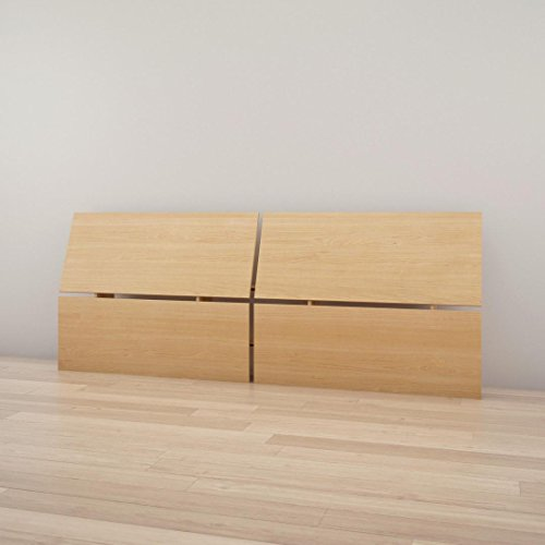 Headboard Maple Size Full - Nordik 345305 Full Size Panoramic Headboard, Natural Maple