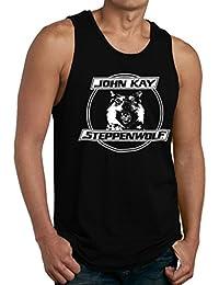 Steppenwolf Band John Kay Logo Men's Shirt Tank Top
