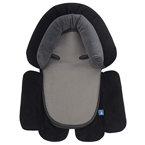 COOLBEBE Upgraded 3-in-1 Baby Head Neck Body Support Pillow for Newborn Infant Toddler – Extra Soft Car Seat Insert Cushion Pad, Perfect for Carseats, Strollers, Swing