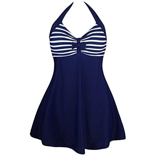 Maillot de Bain Une 1 Pièce Licou Rembourré Robe de bain Tankini Haut Top avec Boxer Short Swimwear Swimsuit Swimming Suit