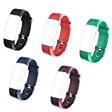 REDGO ID115 PLUS HR Replacement Bands for ID115Plus HR Fitness Tracker, ID115 HR Plus Smart Watch, ID115HR Plus Watchbands, Black, Red, Teal, Blue, Purple